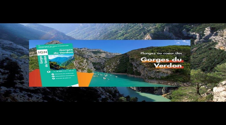 """""""Gorges du Verdon"""" : la nouvelle carte IGN"""